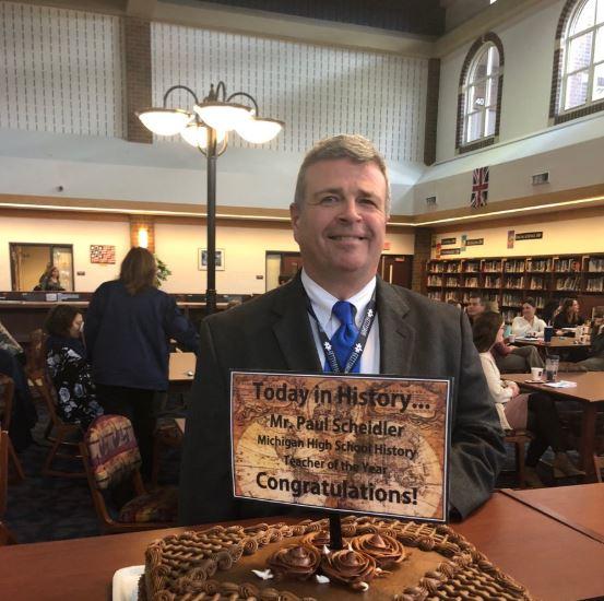 Paul Scheidler, Michigan High School History Teacher of the Year