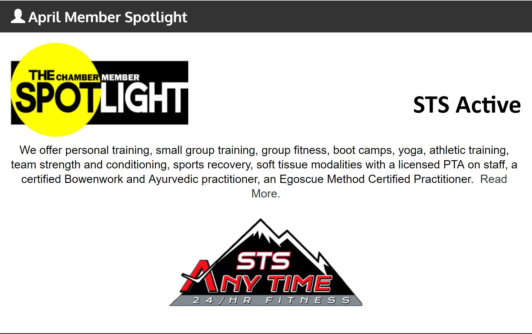 April Business Spotlight – STS Active