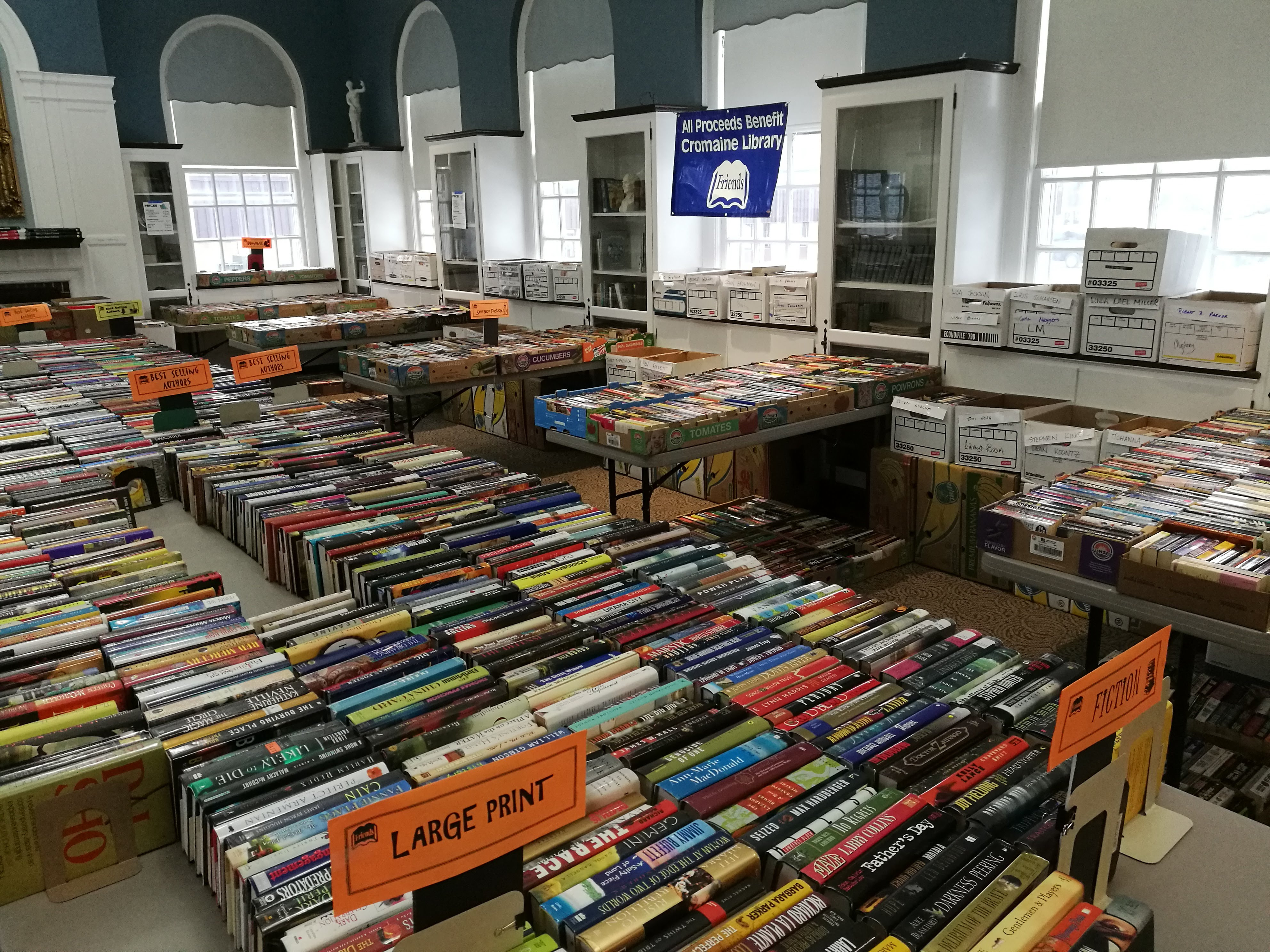 The Friends of Cromaine Spring Book Sale is Here