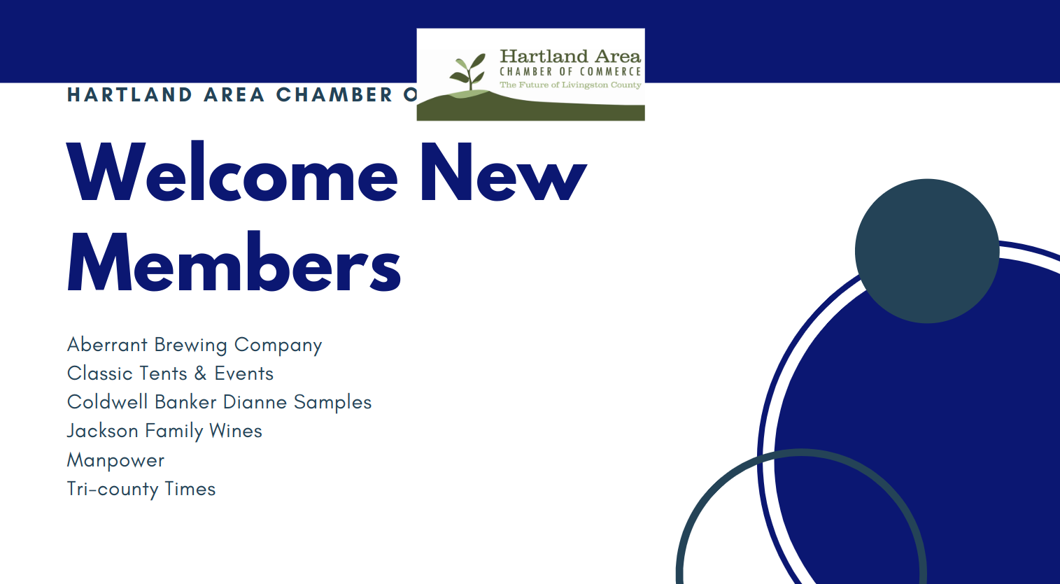 Hartland Area Chamber of Commerce Welcomes New Members in May