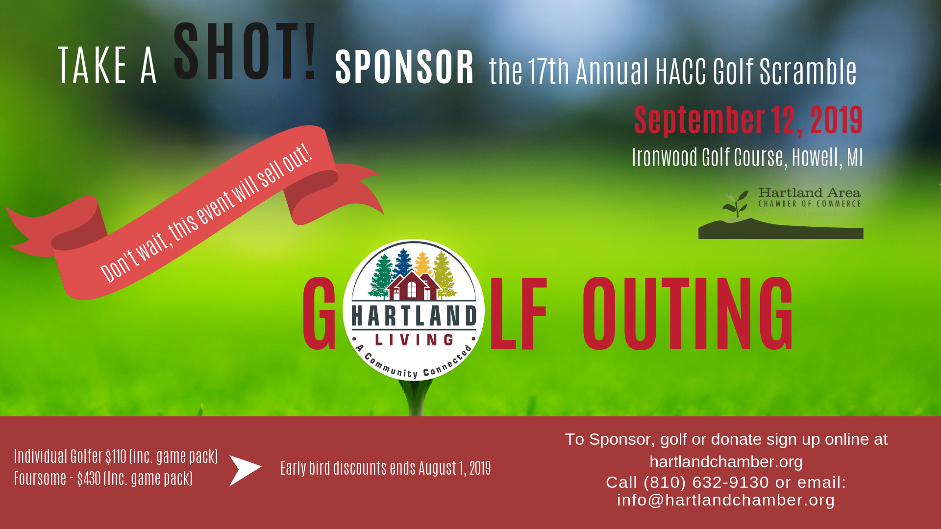Sponsor the HACC Golf Outing or Register to Play