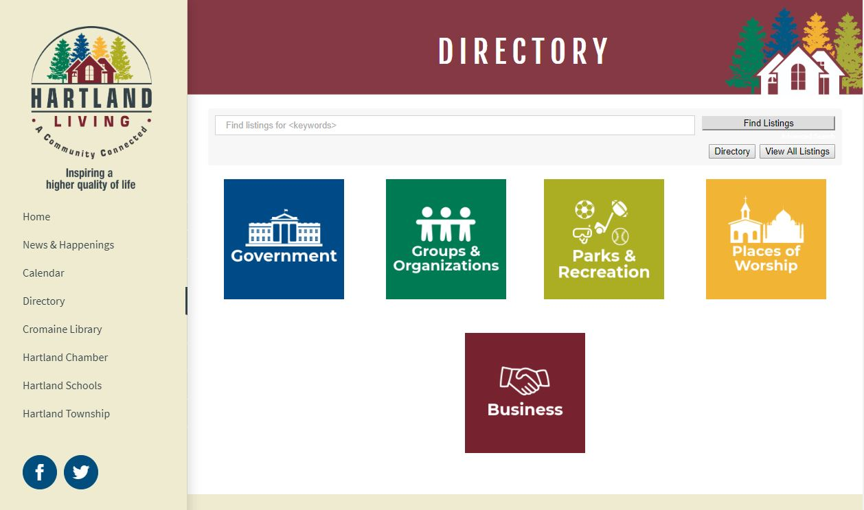 Hartland Living Website Now Features a Directory