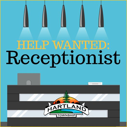 Hartland Township Seeking a Receptionist