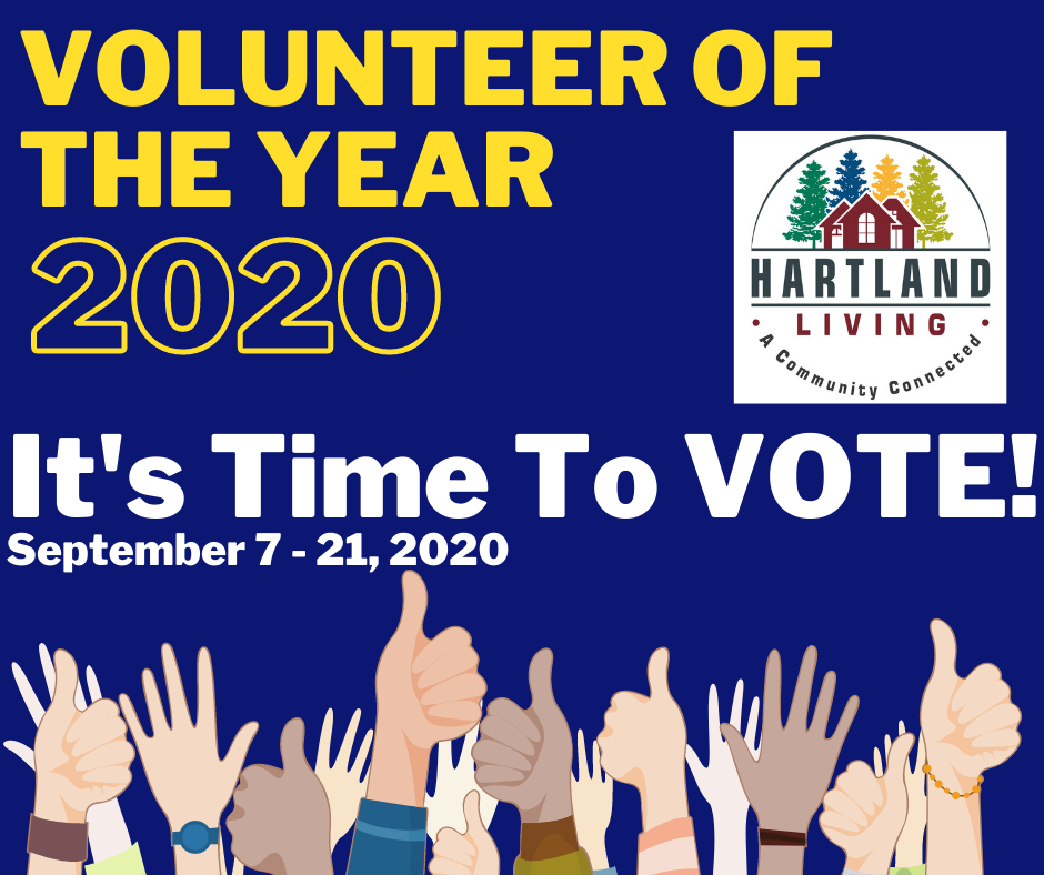 Hartland Living is Seeking Votes for 2020 Volunteer of the Year