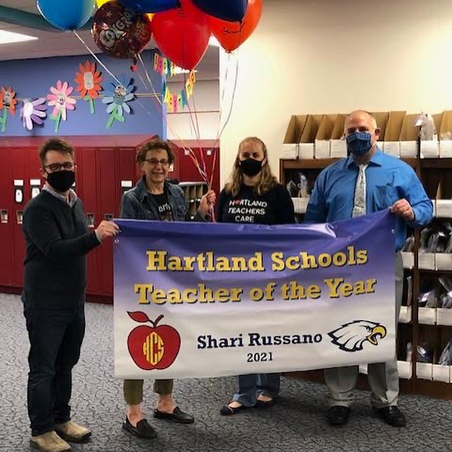Shari Russano named 2021 Hartland Consolidated Schools Teacher of the Year