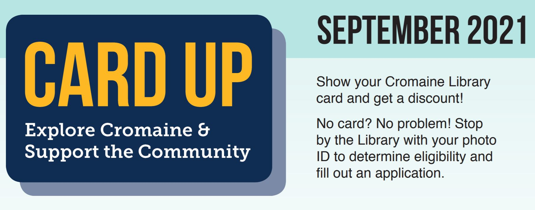 Cromaine Library Encourages Community to Card Up in September!