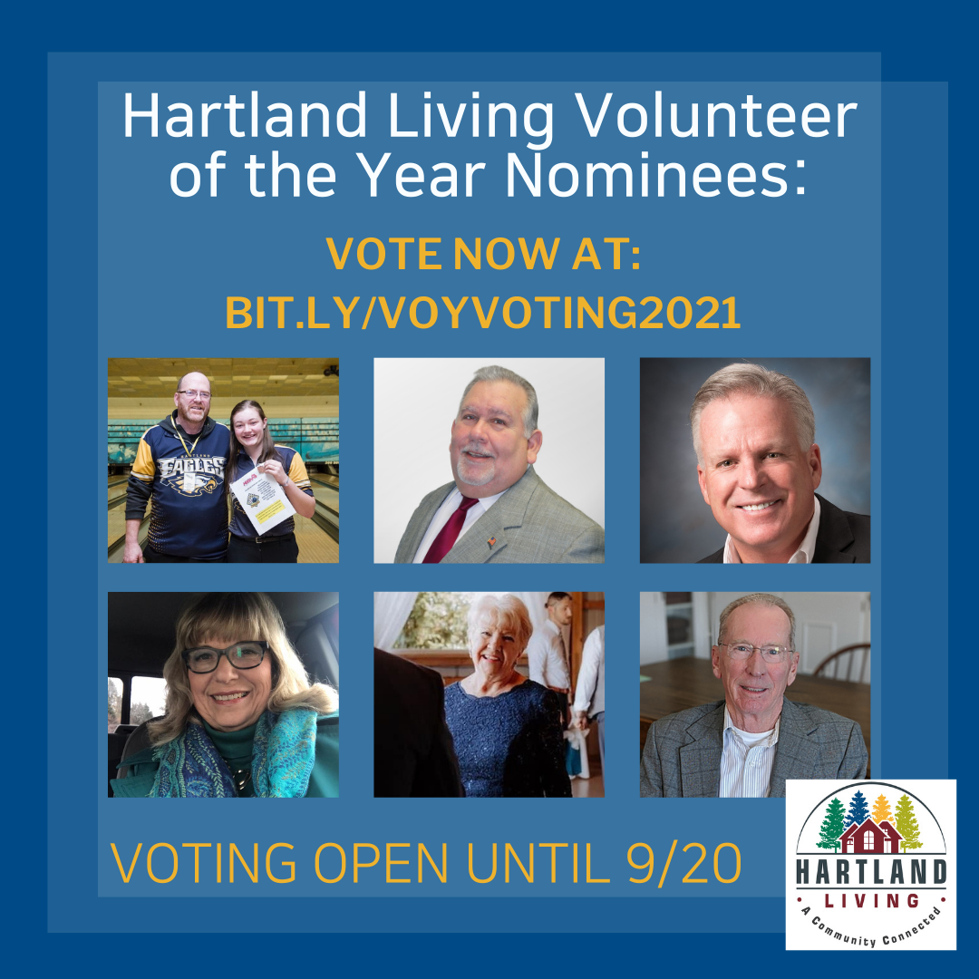Hartland Living Needs Your Vote for the 2021 Volunteer of the Year